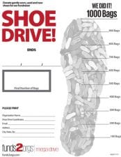 Goal Chart for Mega Shoe Drive
