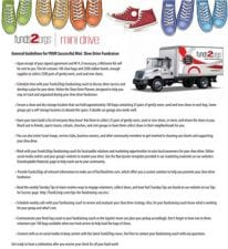 Mini Shoe Drive Guidelines