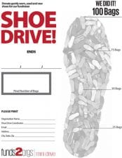 Goal Chart for Mini Shoe Drive